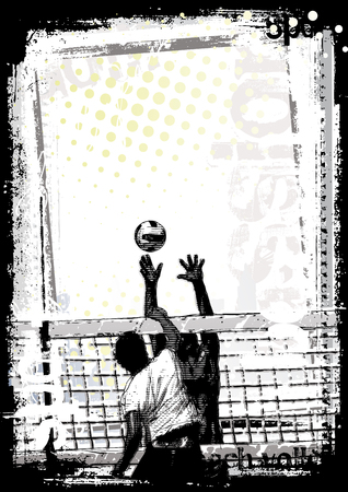 pallavolo: Beach volley sfondo 1  Vettoriali