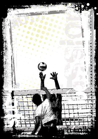 beach volleyball background 1 Illustration