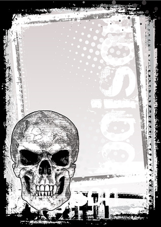 skull poster background Stock Vector - 7295294
