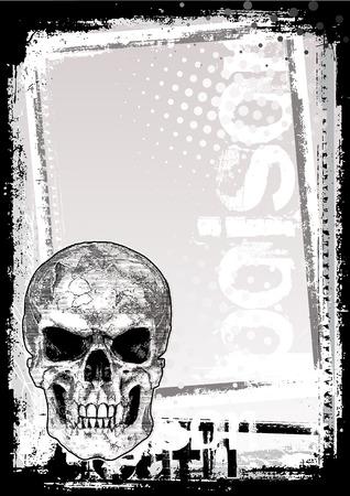 skull poster background Stock Vector - 7295294