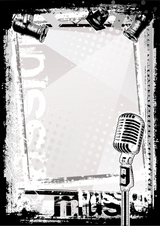 old microphone: microphone background Illustration