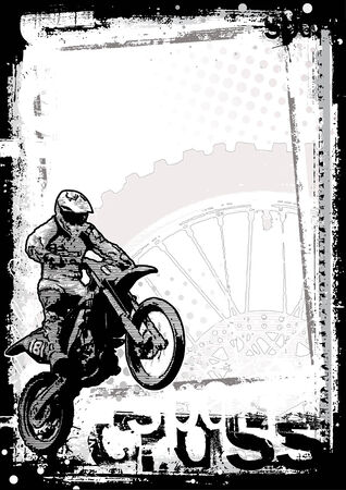 backgrounds grungy dots: motocross poster background