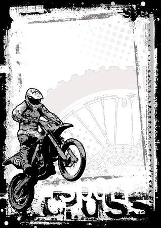 motorbike: motocross poster background