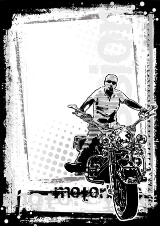 motorbike poster background Vector