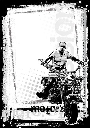 chopper: motorbike poster background