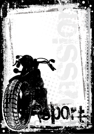 metallic grunge: motorcycle poster background Illustration