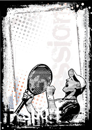 racket: tennis poster background