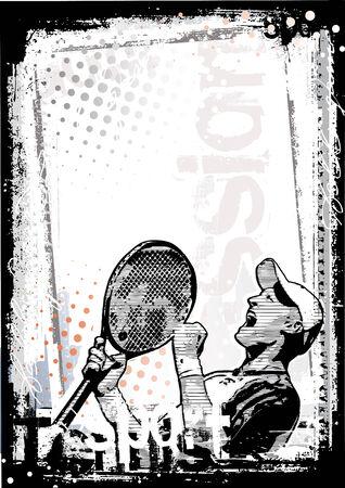racket: tennis poster background