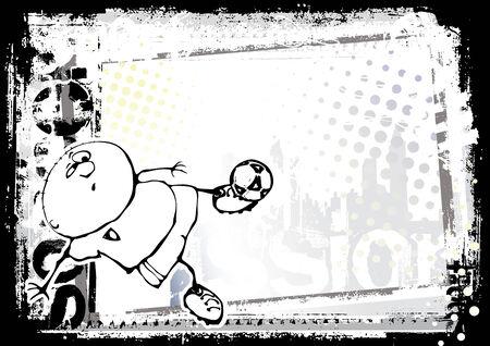 horizontal funny soccer 2 Vector