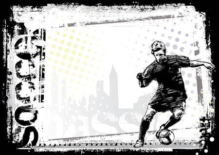 soccer background Stock Vector - 7402304