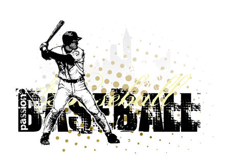 baseball background Vector