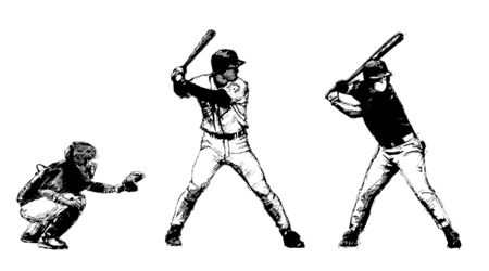 baseball trio Vector
