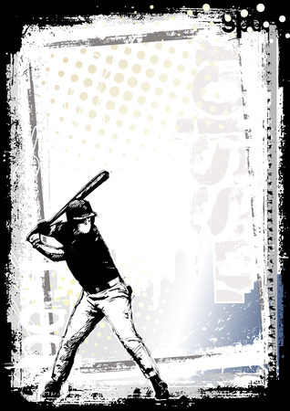 baseball game: baseball background 1 Illustration