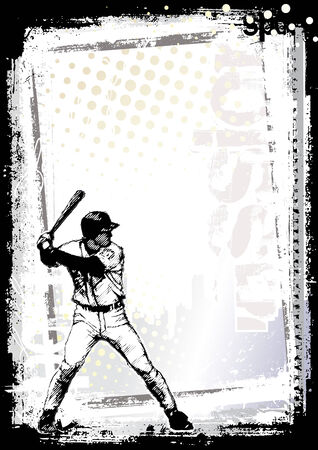 baseball game: baseball background 2 Illustration