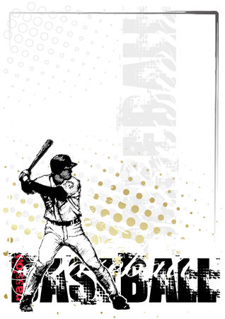 baseball background 4 Vector