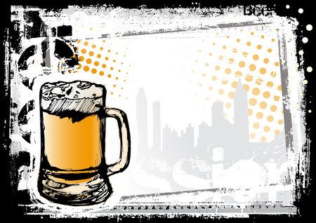 beer mugs: beer fest background