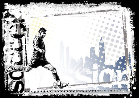 voetbal silhouet: voet bal achtergrond 2