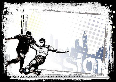 soccer background 3 Illustration