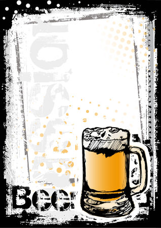 beer mugs: beer fest poster background