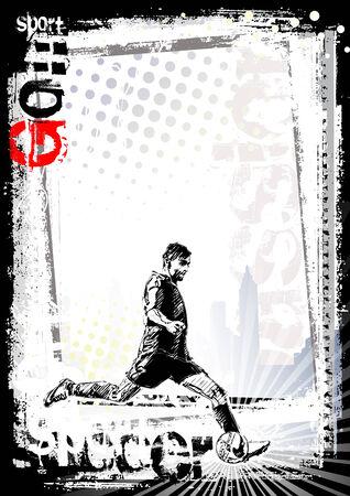 soccer poster background 2 Illustration