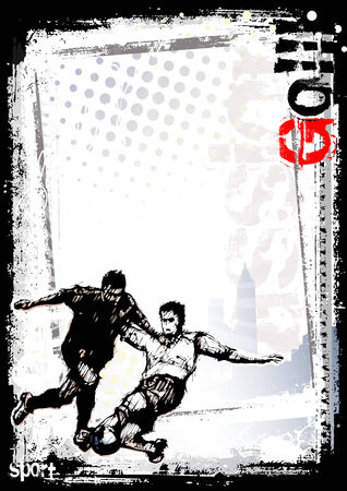 sporting event: soccer poster background 3 Illustration