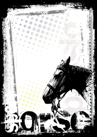 horse show: horse poster background