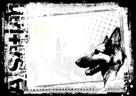 perro policia: Fondo de perro