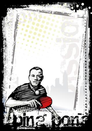 ping pong poster background Illusztráció