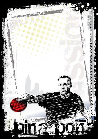 ping pong: Fondo de p�ster de ping pong 2