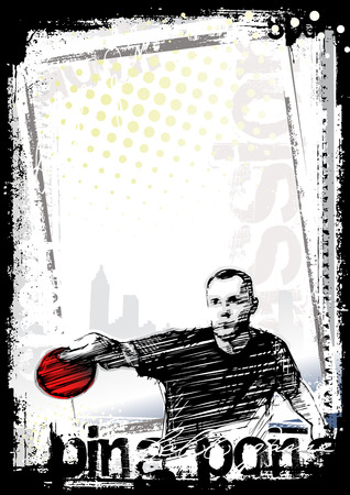 table tennis: ping pong poster background 2 Illustration