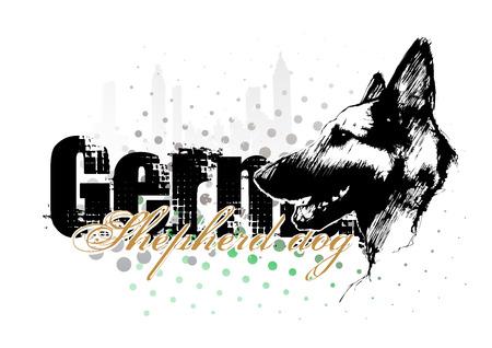 犬歯: 犬の壁紙  イラスト・ベクター素材