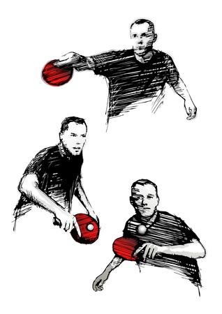 table tennis Illusztráció