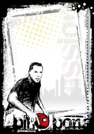 tischtennis: Tischtennis-Poster-Hintergrund