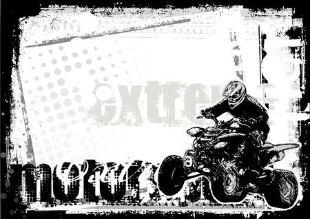 motocross race: motor sport