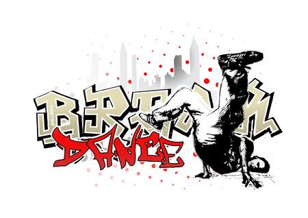 hip hop dance pose: salto de bailarina 2  Vectores
