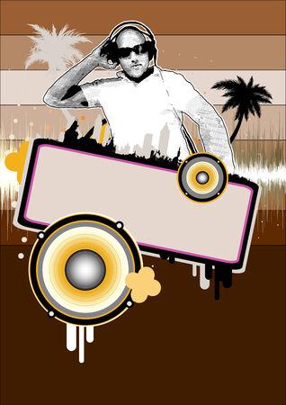 dj background Vector