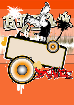 break dance poster Stock Vector - 7773160