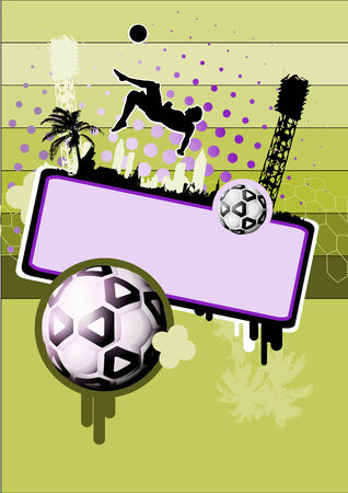 soccer background 2 Stock Vector - 7773163