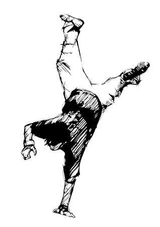 hip hop dance pose: bailar�n de salto