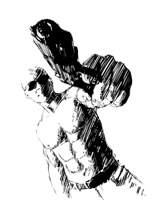 gun fight: gunner Illustration