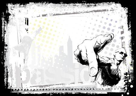 baile hip hop: Fondo de rapero.
