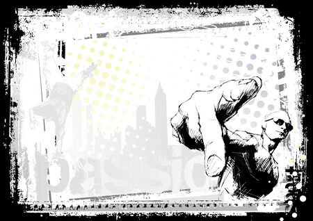 hip hop style: rapper background Illustration