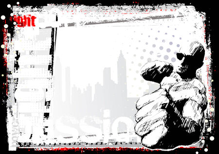 fighter background Stock Vector - 7913098