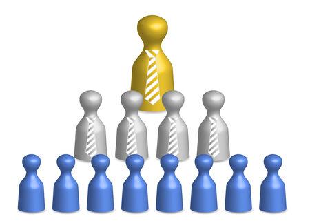 relaciones laborales: Pir�mide de empresa Vectores