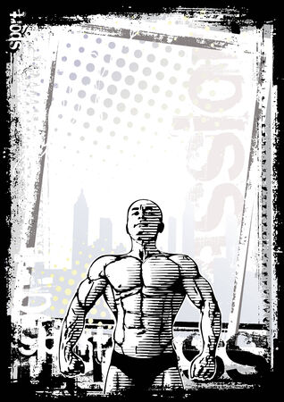 bodybuilder poster 2 Vector