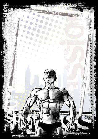 strength training: bodybuilder poster 2 Illustration