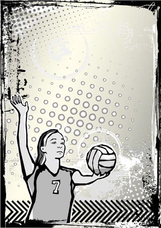 volleyball background 2 Vector