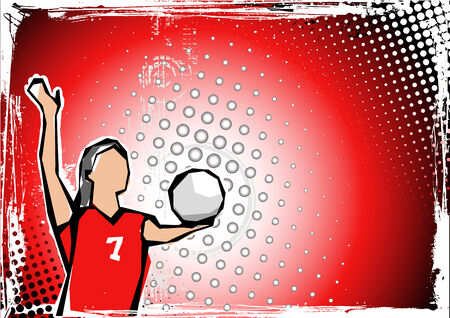 volleyball player: volleyball background 3