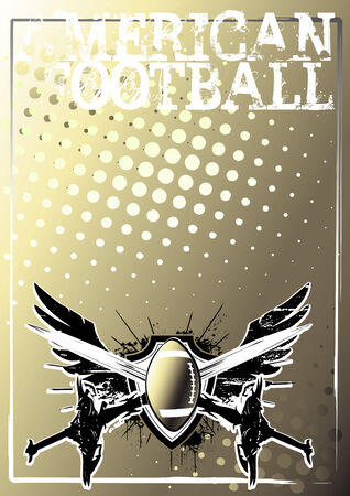 american football background 2 Vector