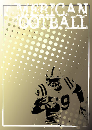 american poster: american football background 3 Illustration